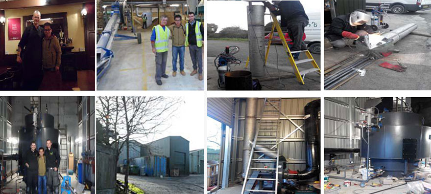 Biomass pellet steam boiler project in UK