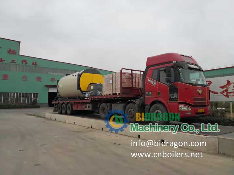 5 ton gas fired steam boiler delivery